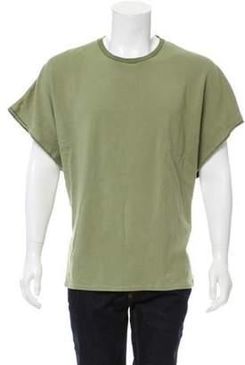 Blurhms Raw-Edge Short Sleeve Shirt
