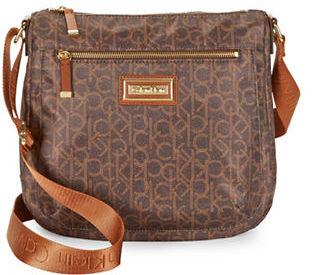 Calvin KleinCalvin Klein Logo Accented Nylon Crossbody Bag
