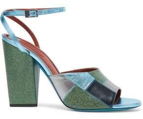 Missoni Metallic And Glittered Leather Sandals