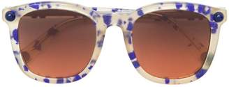 Christopher Kane Eyewear square frame speckled sunglasses
