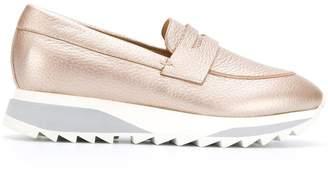 Santoni metallic loafers