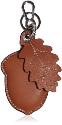Loewe Acorn & Leaf Leather Key Chain
