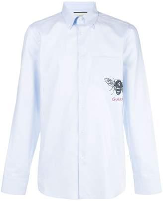 Gucci bee print shirt