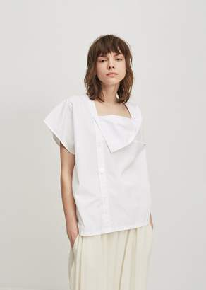 Y's Flare Back Blouse White