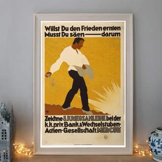 The Poster Collective Vintage Zeichne And Kriegsanleihe Art Deco Poster