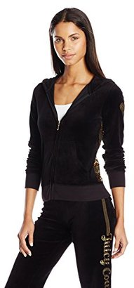Juicy Couture Black Label Women's Logo Juicy Sequins Vlr Orig Jacket $188 thestylecure.com