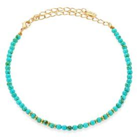 Ettika Still Surprise You Dyed Turquoise Beaded Choker Necklace $40 thestylecure.com