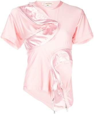 Comme des Garcons asymmetric zipped T-shirt