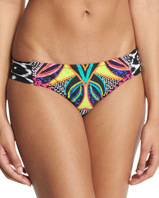 Trina Turk Africana Shirred-Side Printed Hipster Swim Bottom $72 thestylecure.com