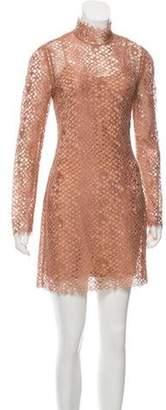 Alexander Wang Lace Mini Dress Tan Lace Mini Dress
