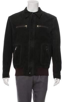 Dolce & Gabbana Suede Zip-Up Jacket Suede Zip-Up Jacket