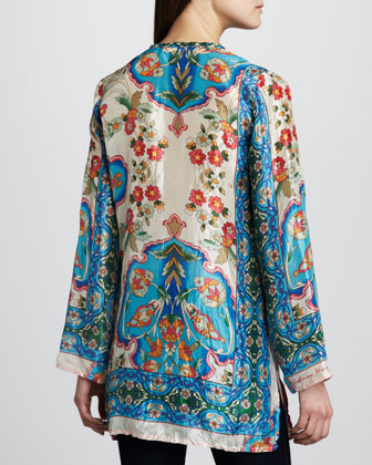 Johnny Was Collection Eden Printed Silk Tunic, Women's