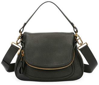 Tom Ford Jennifer Medium Grained Leather Saddle Bag