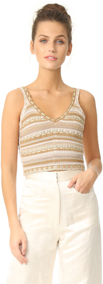 alice + olivia Sandrine Crochet Cropped Tank $275 thestylecure.com