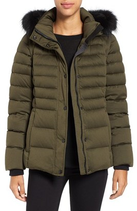 Women's Andrew Marc 'Kelly' Convertible Down Jacket With Genuine Fox Fur Trim $495 thestylecure.com