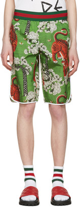 Gucci Green Bengal Swim Shorts $790 thestylecure.com