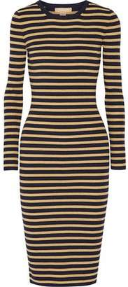 Michael Kors Metallic Striped Stretch-Knit Dress