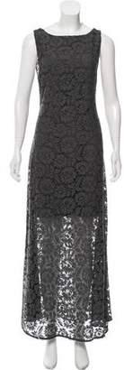 Alice + Olivia Sleeveless Lace Maxi Dress