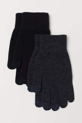 H&M 2-pack Smartphone Gloves - Black