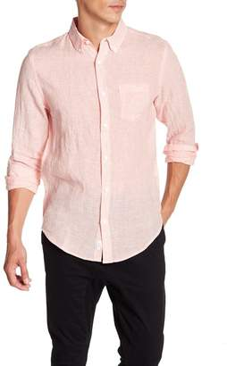 Onia Jay Front Button Stripe Woven Regular Fit Shirt