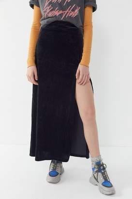 Urban Renewal Vintage Velvet Slit Midi Skirt