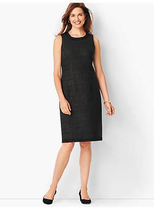 Talbots Textured Tweed Sheath Dress