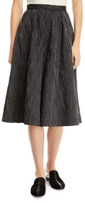 Co Crinkled-Cotton Striped Culottes