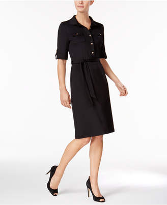 Kasper Tab-Sleeve Shirtdress $89 thestylecure.com