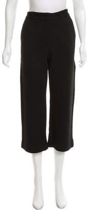 Helmut Lang Cropped High-Rise Knit Wool Pants