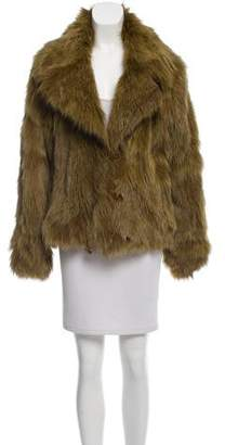 Plein Sud Jeans Fox Fur Short Coat