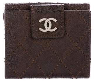 Chanel Diamond Stitch Compact Wallet