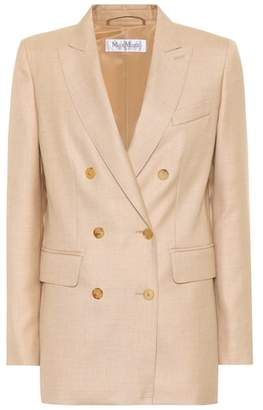 Max Mara Merlot silk and camel hair blazer