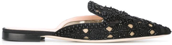 Alberta FerrettiAlberta Ferretti embellished slippers