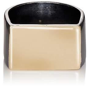 Loren Stewart Men's Flat ID Ring-Gold