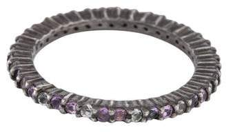 MCL by Matthew Campbell Laurenza Amethyst & Multicolor Sapphire Eternity Band