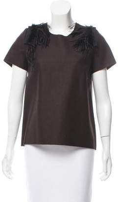 Ter Et Bantine Feather-Trimmed Wool Top