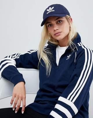 adidas Trefoil Logo Cap In Navy