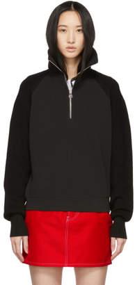 Helmut Lang Black Sweater Combo Zip Sweatshirt