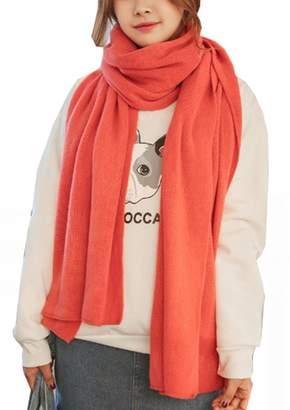 Wander Agio Womens Warm Long Shawl Winter Scarf Pure Blanket Scaves Color