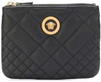 Versace diamond quilted zip purse