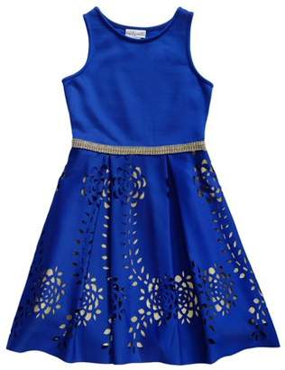 Emily West Sparkle Lace Fit and Flare Dress (Big Girls)