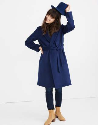 Madewell Shawl-Collar Wrap Coat