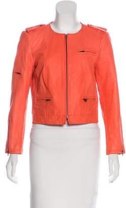 Alice + Olivia Leather Biker Jacket