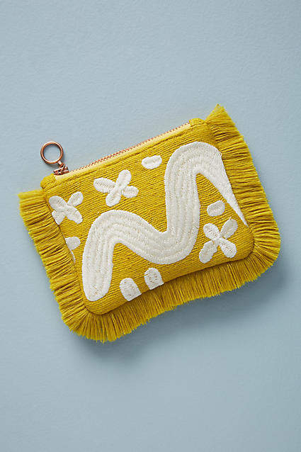 Fringed Silk Pouch