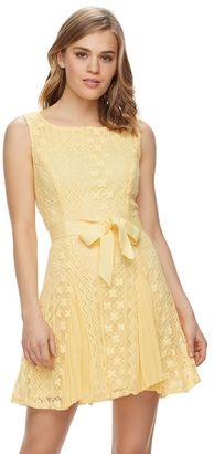 Disney's Beauty and the Beast Juniors' Pleated Crochet Dress $48 thestylecure.com