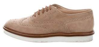 Tod's Brogue Pointed-Toe Oxfords