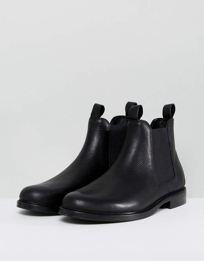 polo ralph lauren normanton chelsea stiefel aus leder in schwarz herren. Black Bedroom Furniture Sets. Home Design Ideas