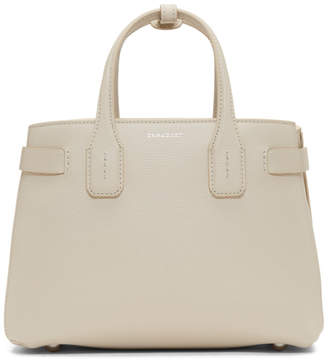 Burberry Grey Small Banner Structured Tote