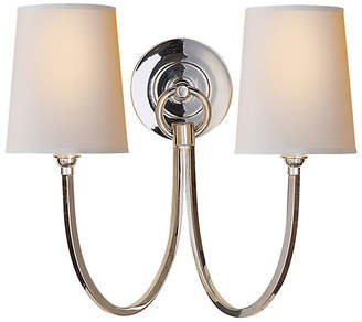 Visual Comfort & Co. Reed Double Sconce - Polished Nickel