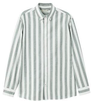 Mango man MANGO MAN Regular-fit Oxford striped shirt